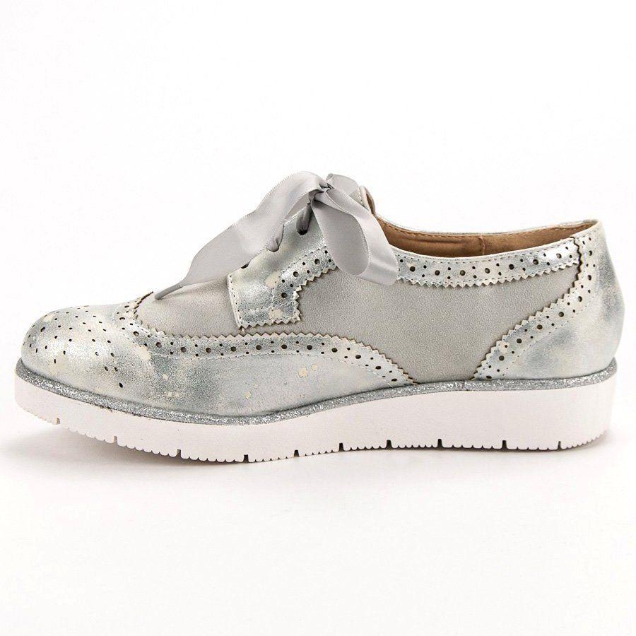 Vices Polbuty Wiazane Wstazka Szare Slip On Sneaker Golden Goose Sneaker Sneakers