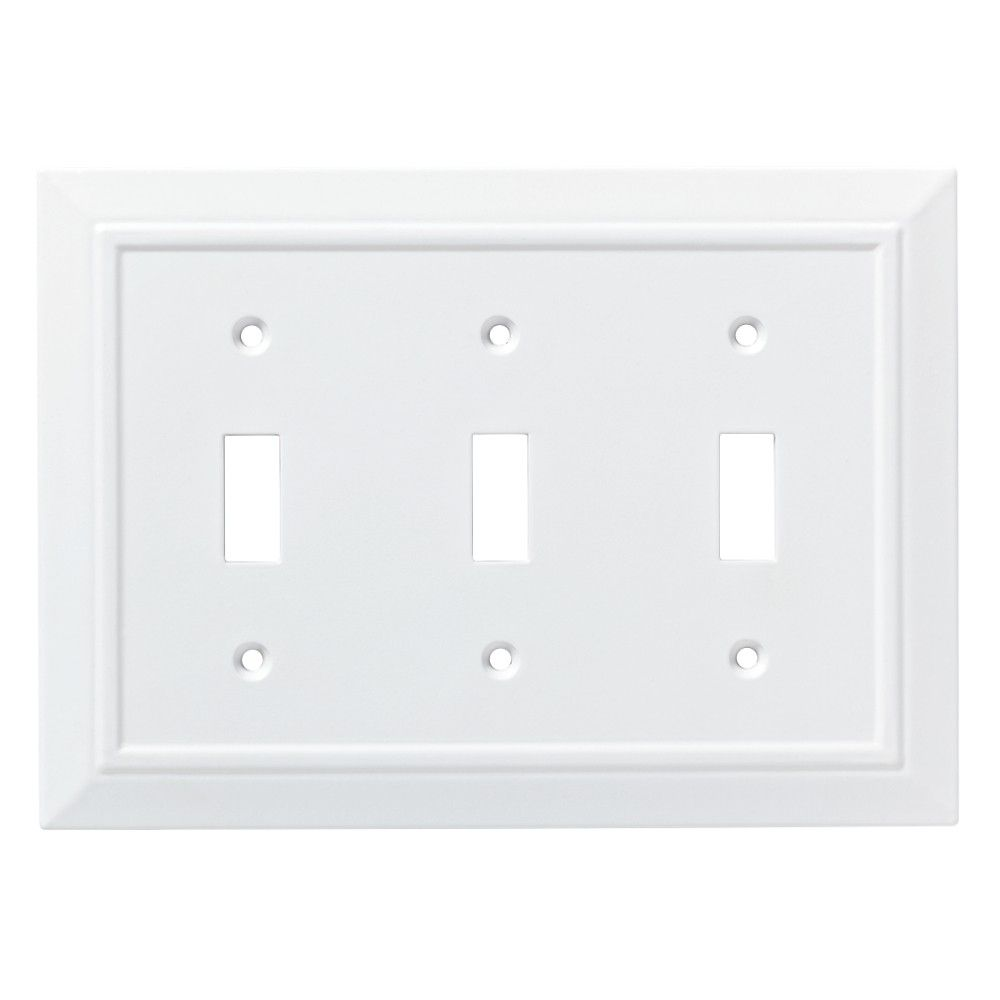 Classic Architecture Triple Switch Wall Plate White - Franklin Brass #purewhite
