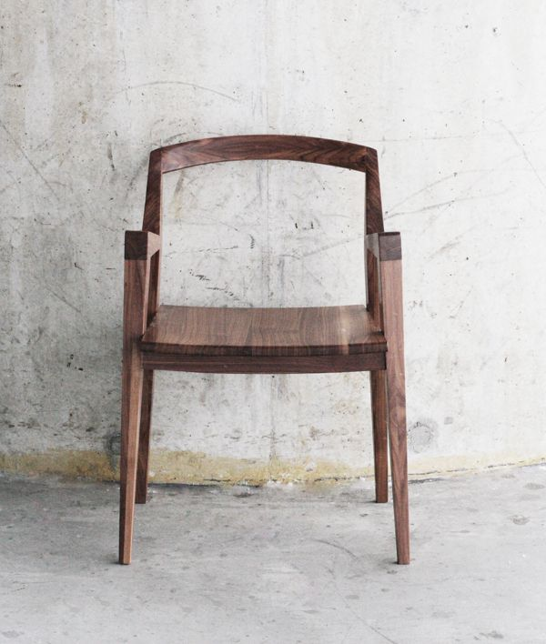 Wooden Chair With Modern And Simple Lines, Made Of Walnut Tree Wood. Lines  Of The Chair Are Very Simple, It Is Easy To Produce And It Is Comfortable  To Sit ... Home Design Ideas