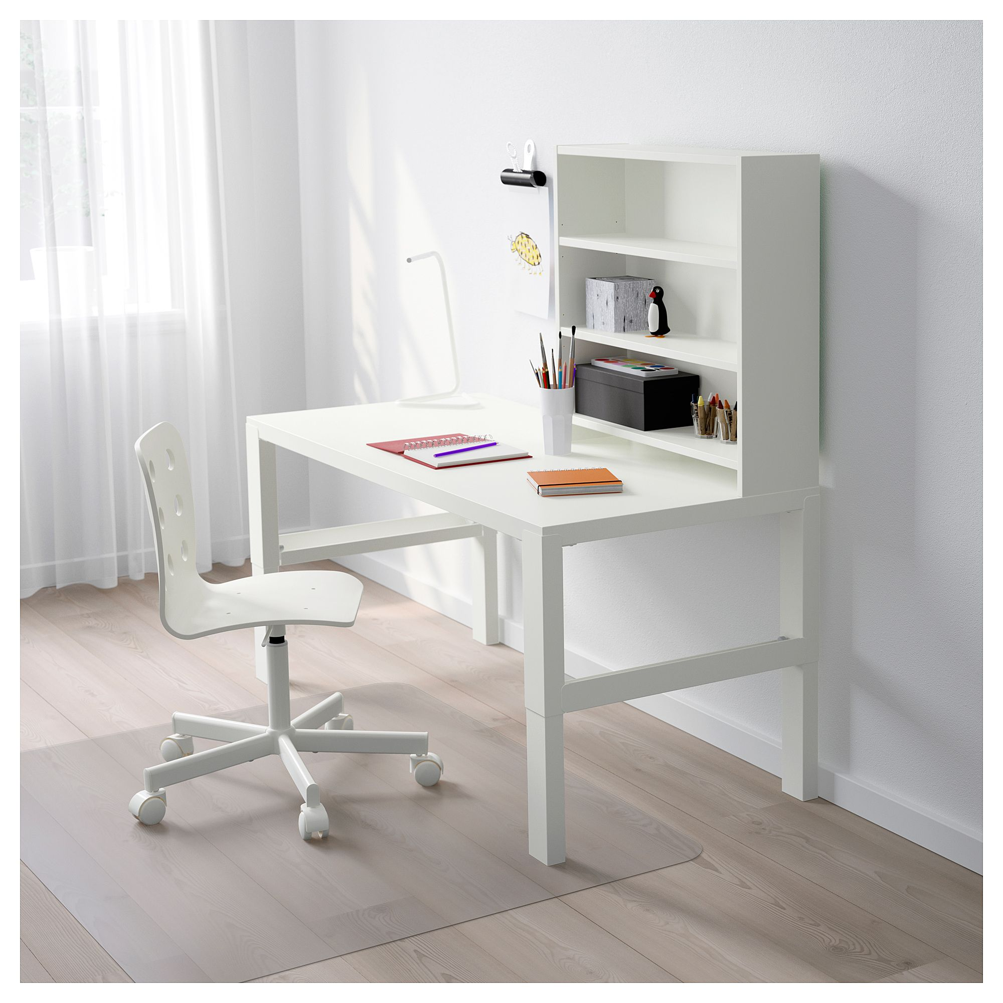 Ikea P 197 Hl Desk With Add On Unit White In 2019 Products Ikea Kids Desk Workspace Desk