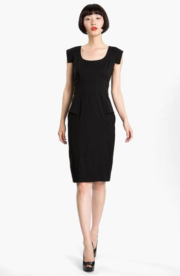 French Connection Cap Sleeve Peplum Sheath Dress Available At
