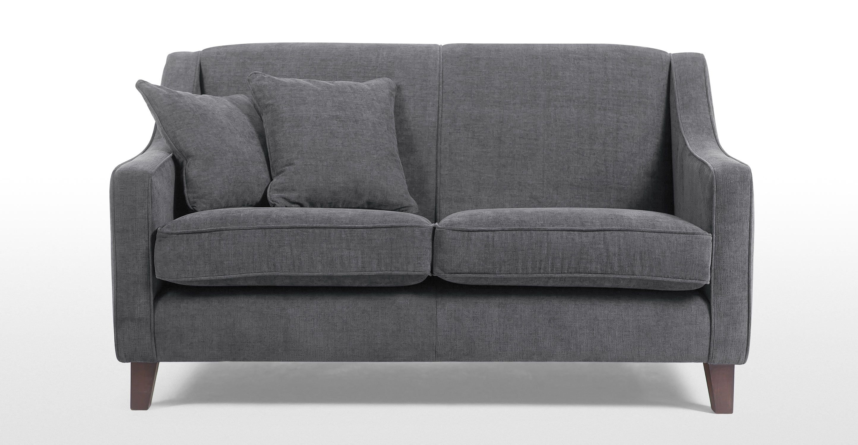 Halston 2 Seater Sofa In Dusk Grey Made