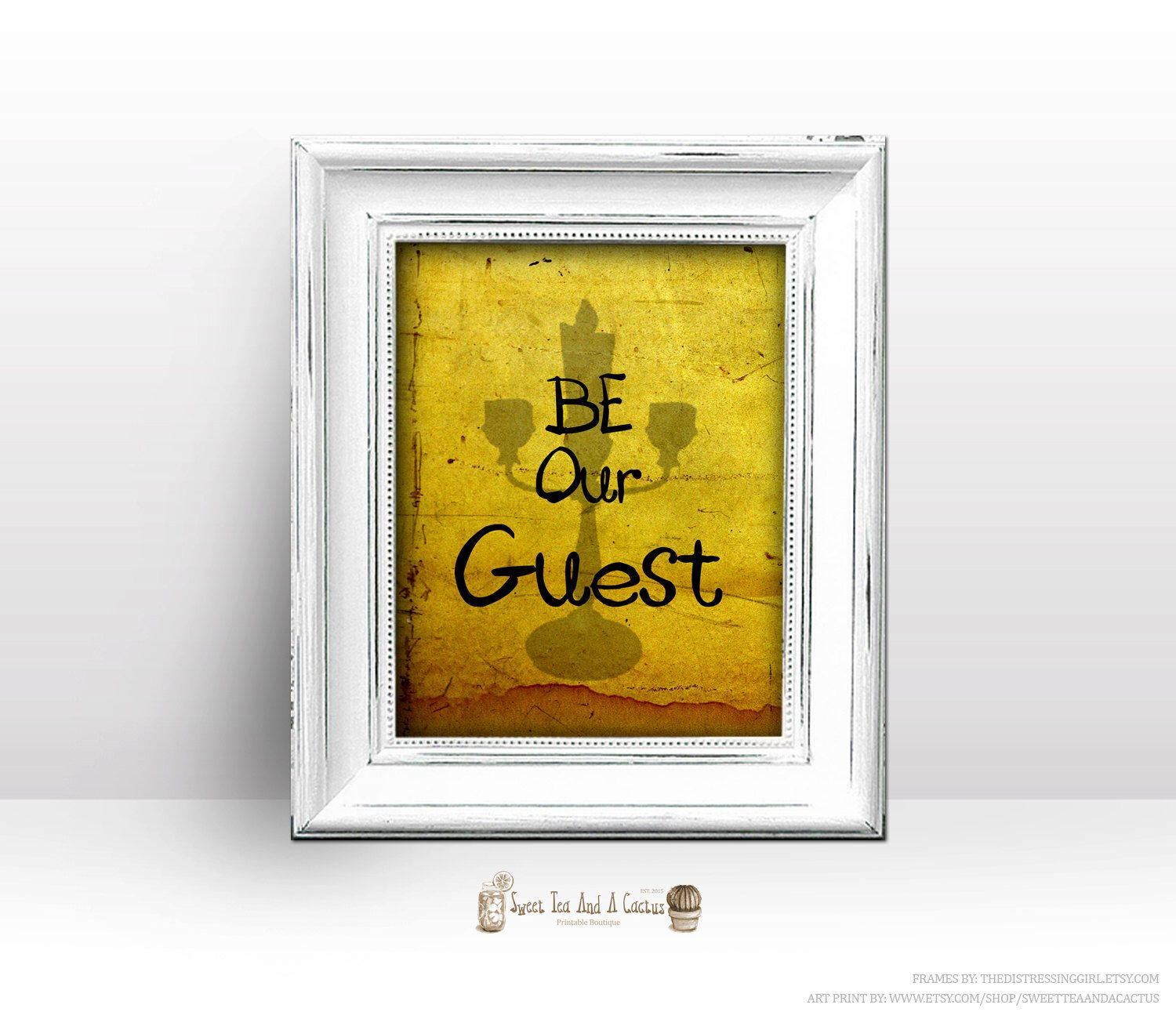Be Our Guest Beauty and the Beast Printable Wall Art - Download file ...