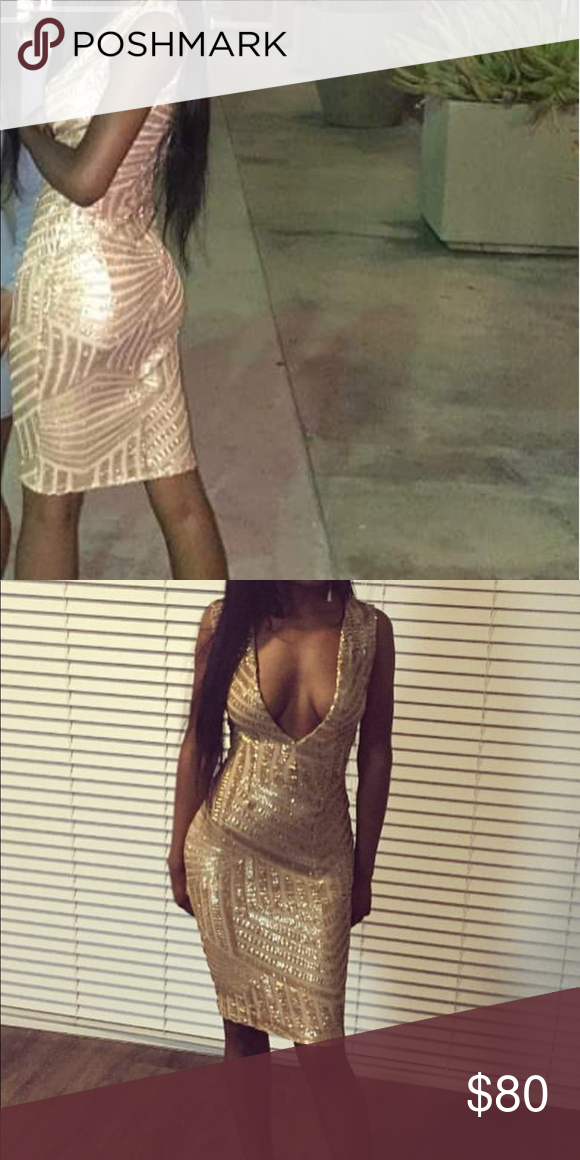 Gold Custom Birthday Dress Y Made