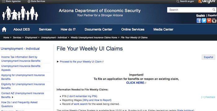 Arizona Unemployment Login Des Az Gov File Online