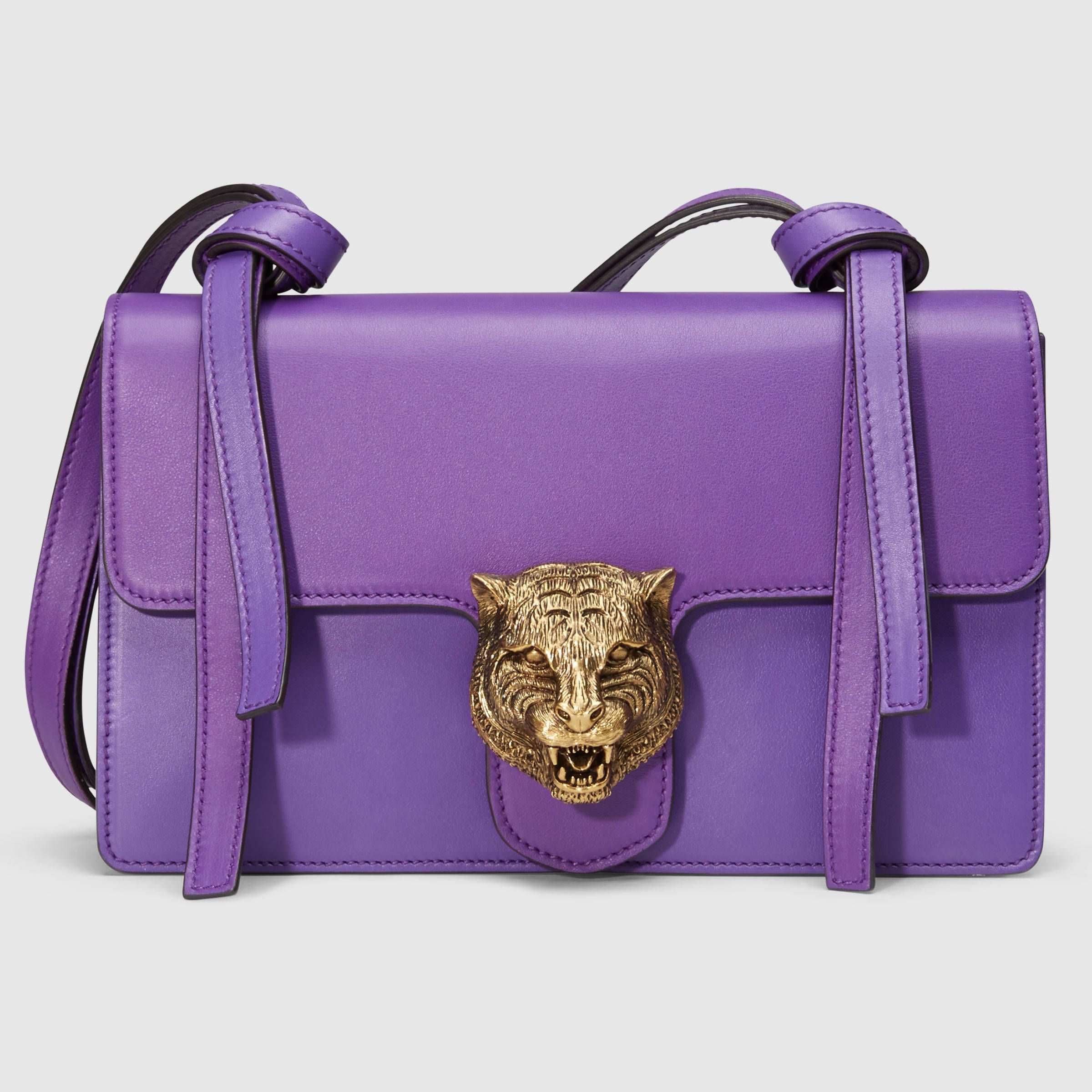 Gucci Women - Animalier leather shoulder bag - such a pretty color ...