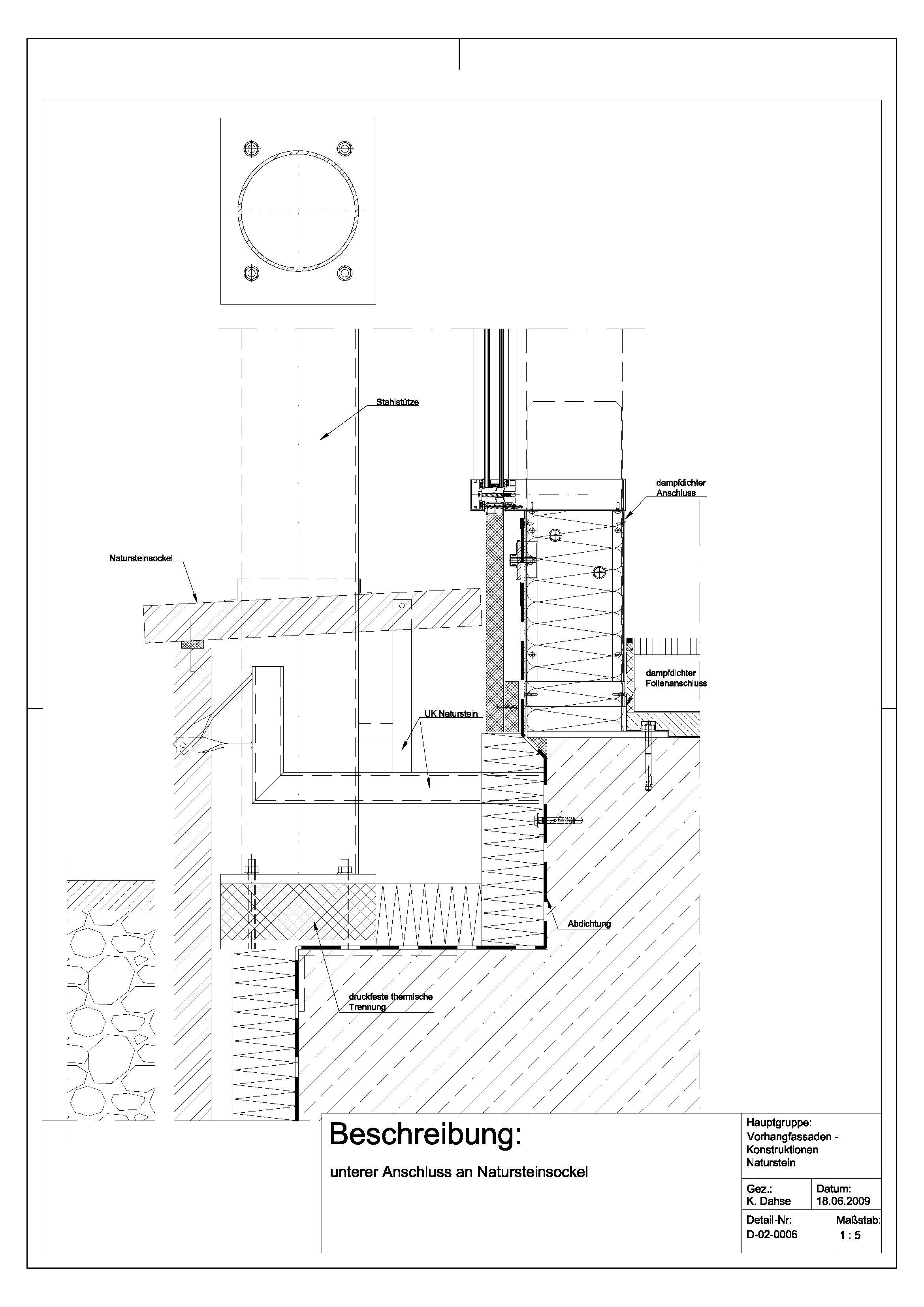 Tür detail grundriss  D-02-0006 unterer Anschluss an Natursteinsockel | Details ...