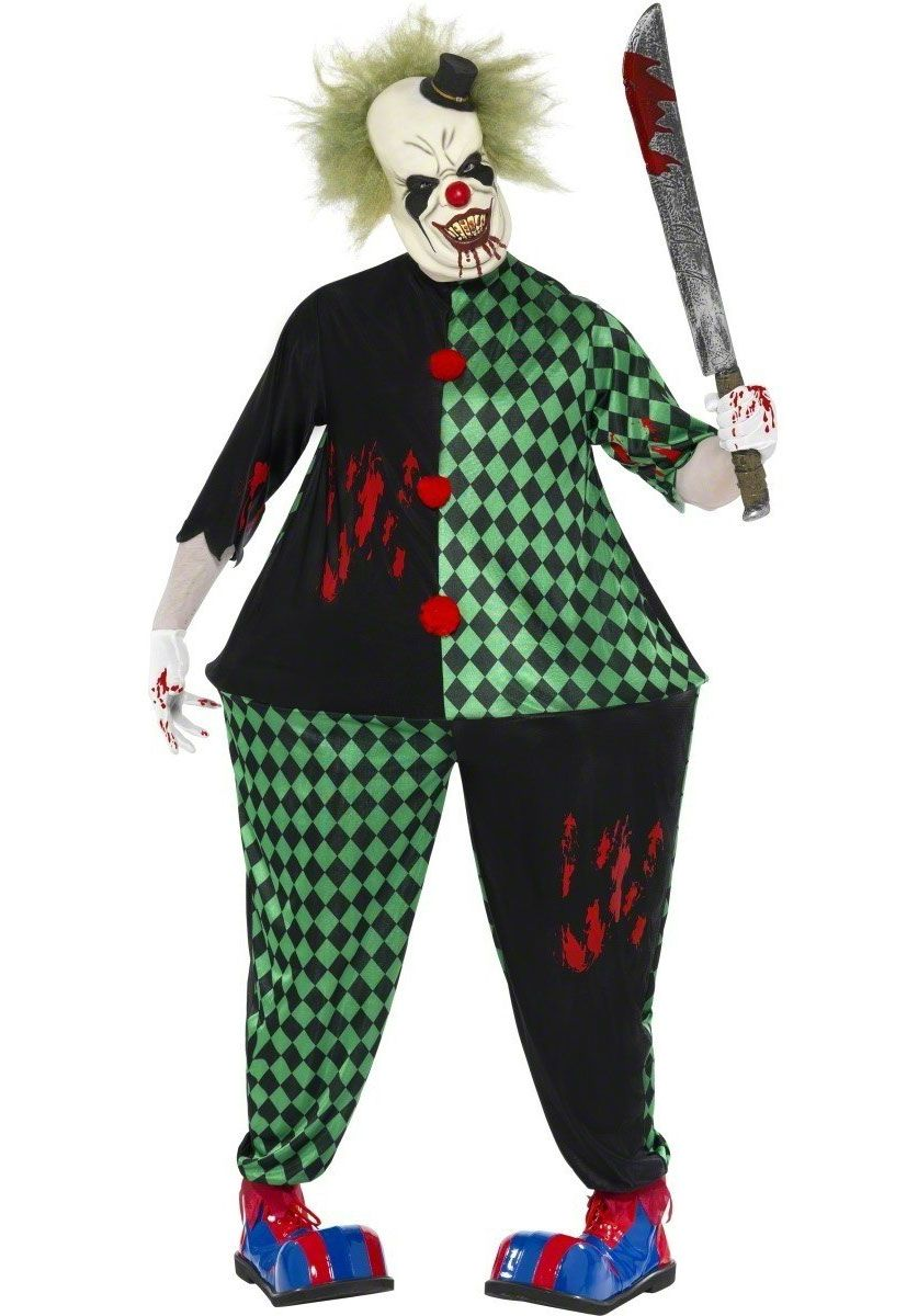 Classic Horror Clown Costume Clown Halloween Costumes Evil