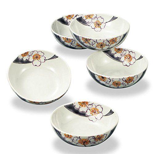 Japanese Ceramic Porcelain kutani ware 5 small bowls set Flower painting Japanese ceramic Hagiyakiya 319 -- Visit the image link more details.
