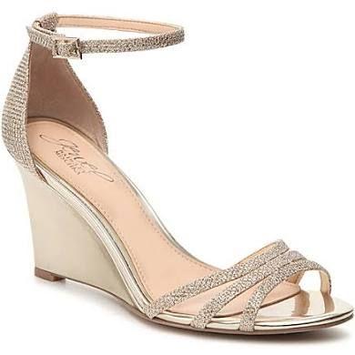 Jewel Badgley Mischka Antonette Wedge Sandal - Women's - Gold Metallic