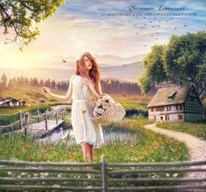 This is my entry for the contestSUMMER IDYLL CONTESTheld by Entry for the contestSEPTEMBER ART CHALLENGEorganised by Dedicated to Thank you for everything Stock Credit...