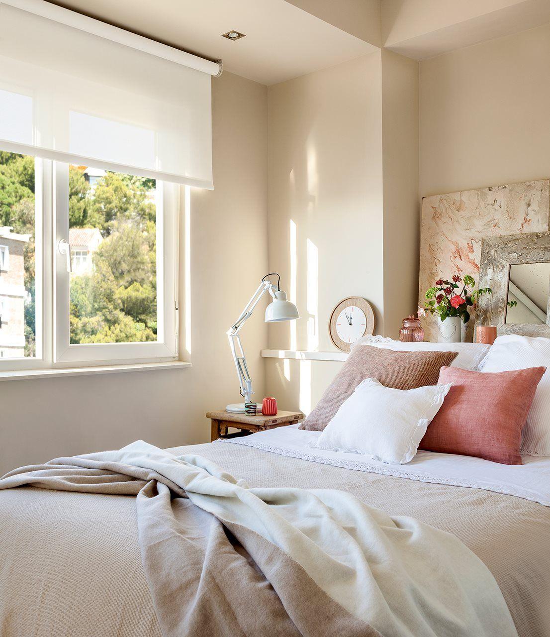 Dormitorio cabecero repisa cama habitaciones decoracion for Pinterest decoracion dormitorios