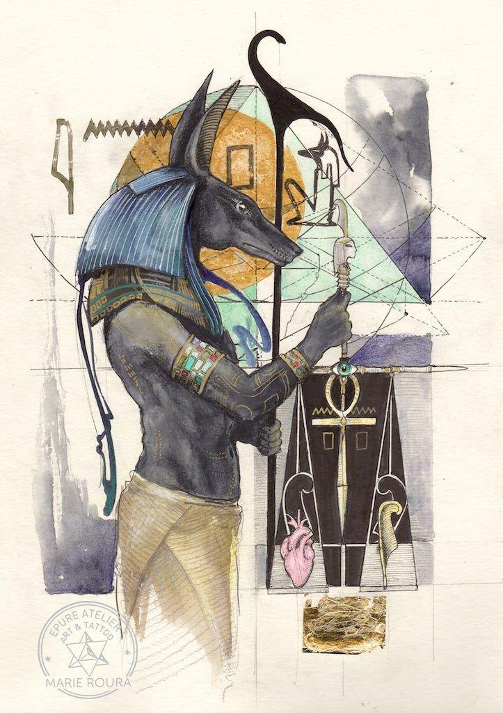 Anubis en 2020 | Dessin egypte, Dieux egyptiens, Art égyptien