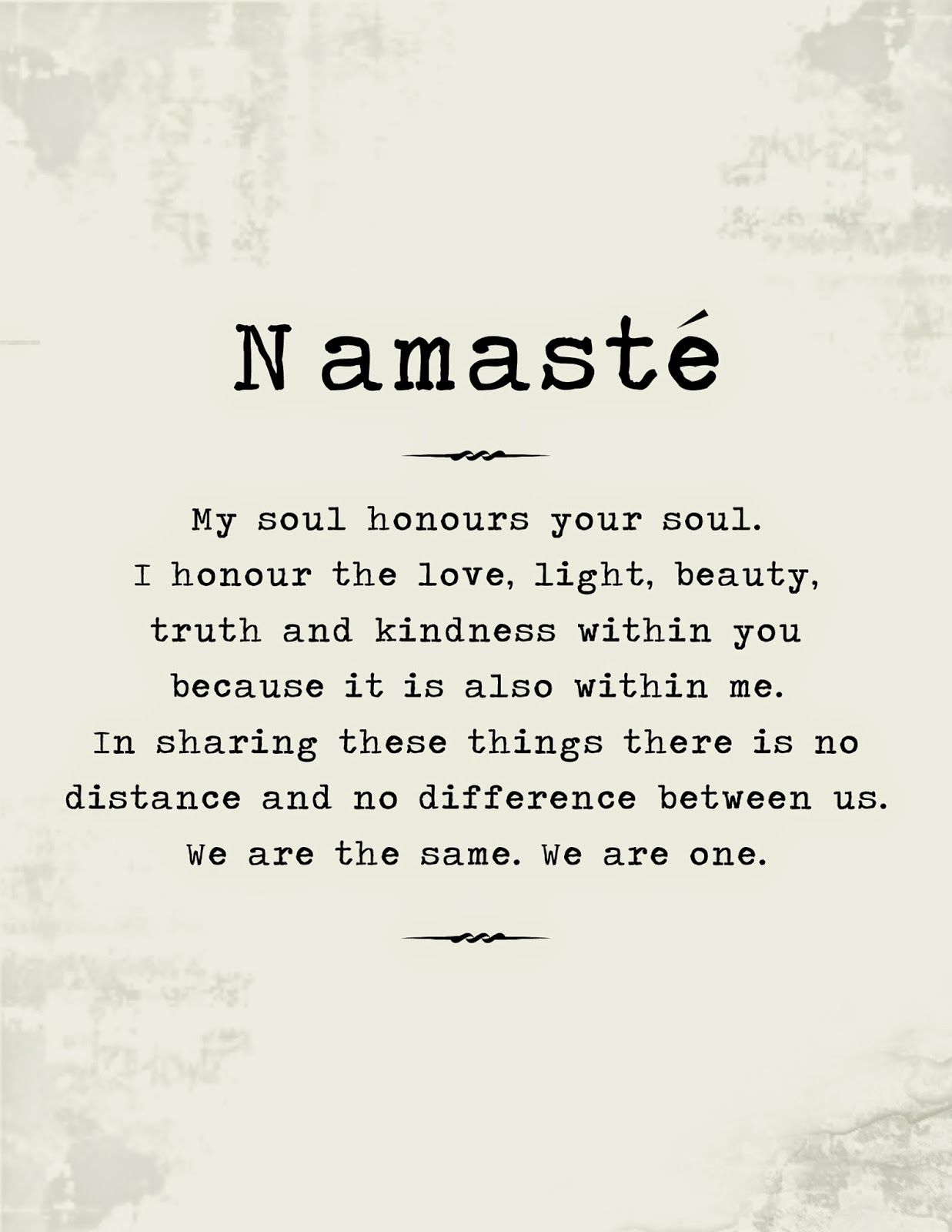 BotanicalBuddha: The Meaning Of Namaste And Free Poster To
