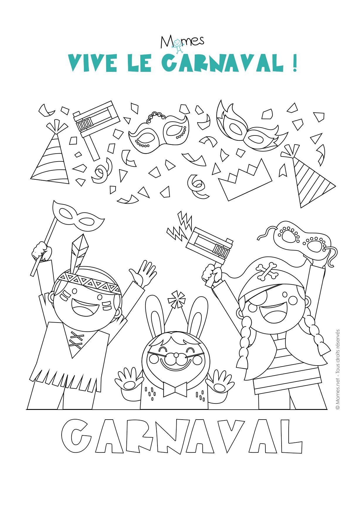 Coloriage carnaval