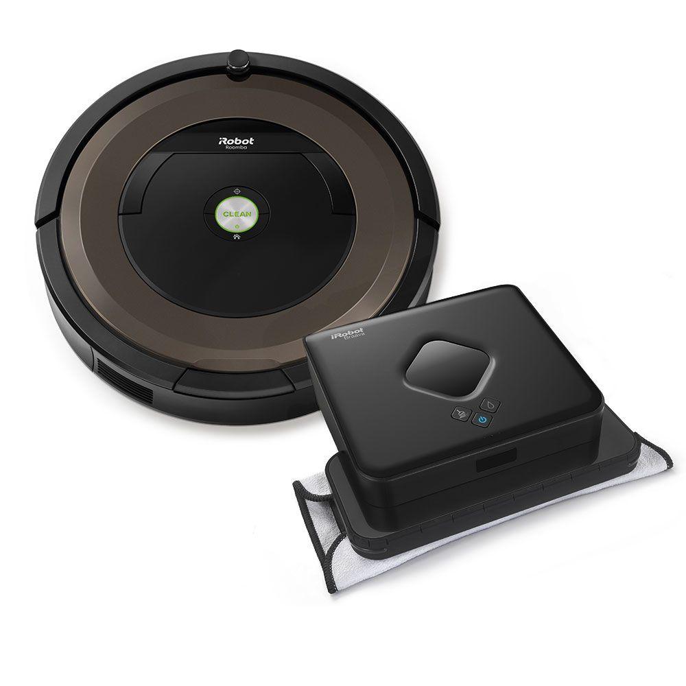 iRobot® Roomba® 890 Vacuuming Robot & Braava 380t Mopping