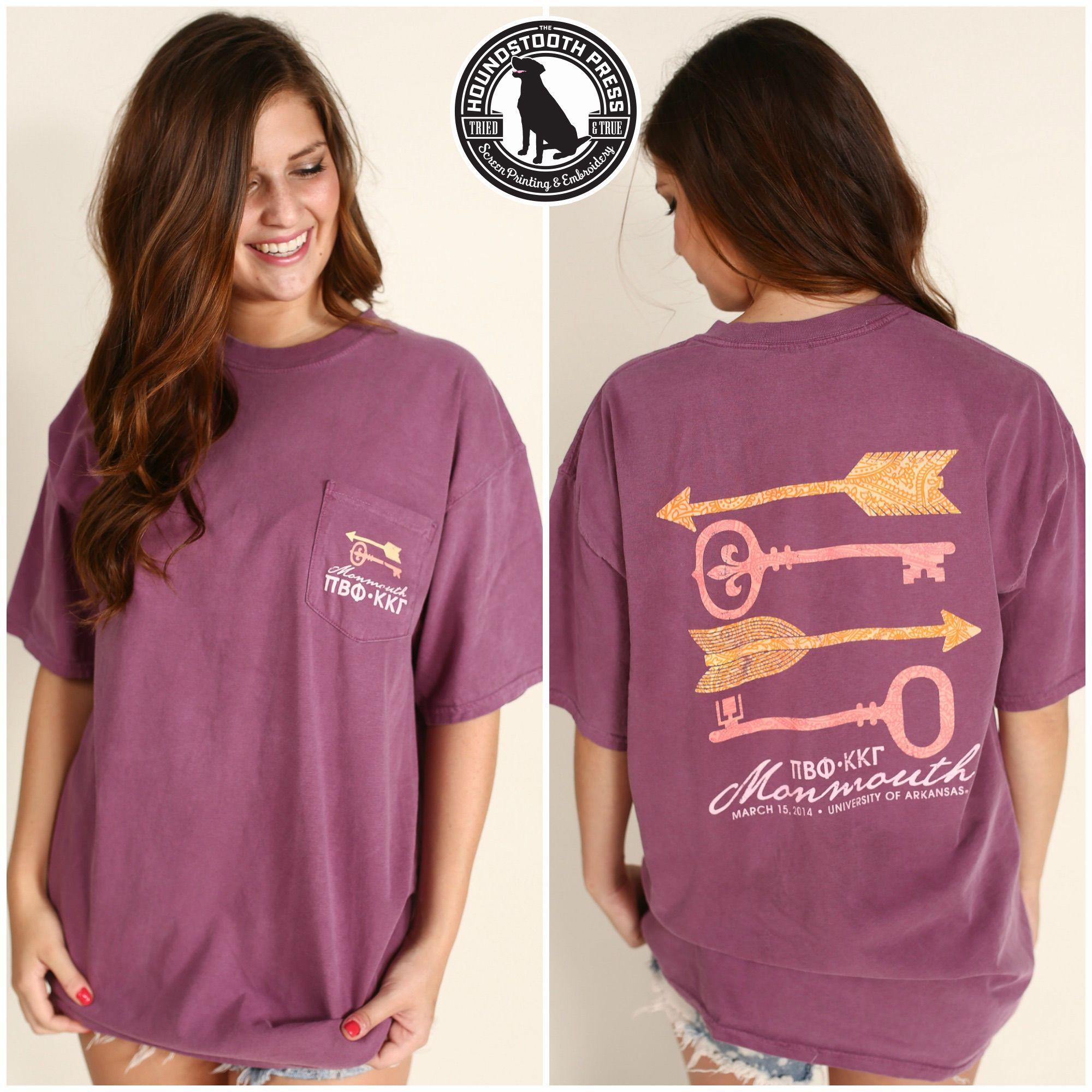 Design t shirt comfort colors - University Of Arkansas Pi Beta Phi Monmouth Formal T Shirt Comfort Colors