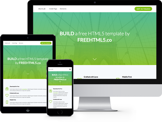 build free html5 bootstrap template free responsive. Black Bedroom Furniture Sets. Home Design Ideas