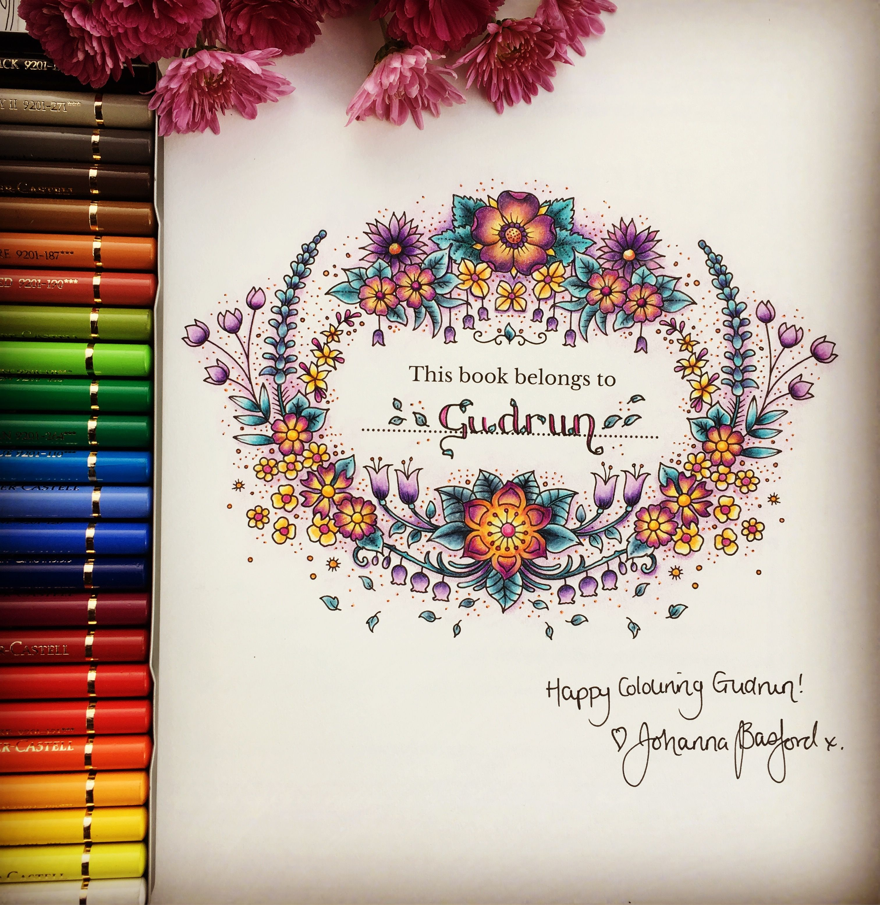 From The New Coloring Book World Of Flowers From Johanna