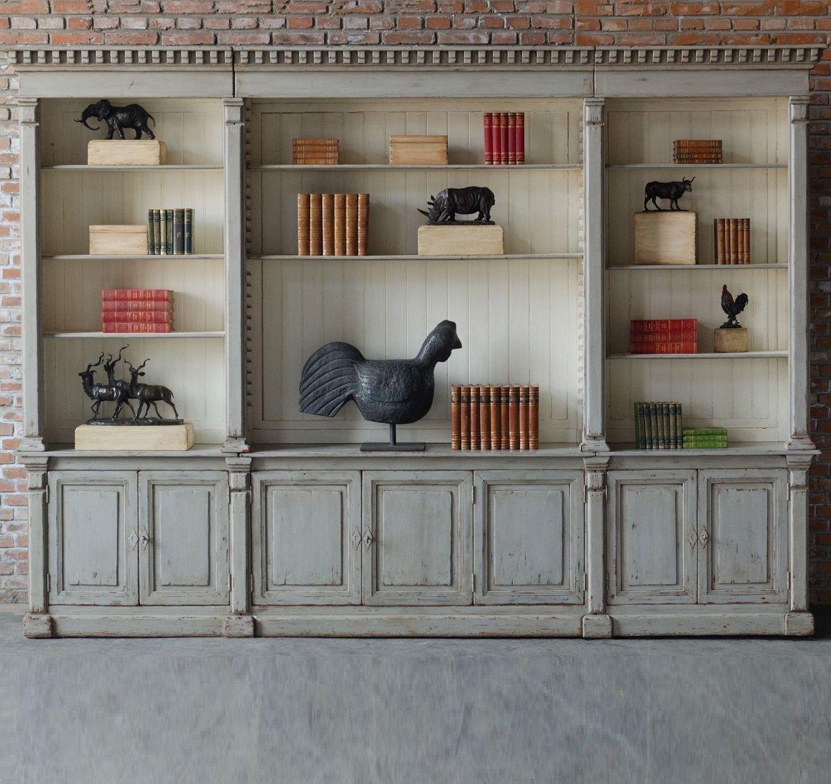 Van Thiel Mr Percy Found The Top Grey Triple Bookcase | Zin Home