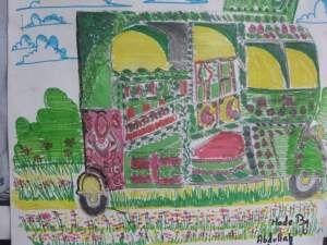 Draw rickshaw