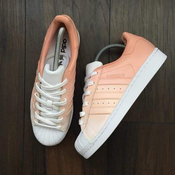 TheShoeCosmetics Adidas Superstar Peach Custom Sneakers