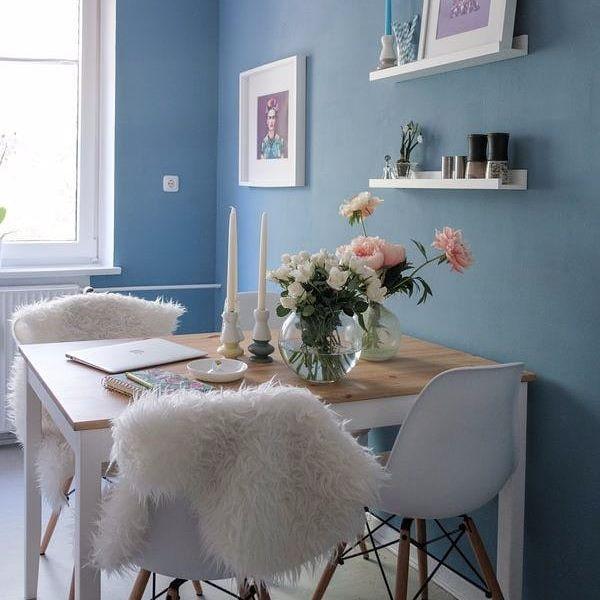 Guten Morgen Samstag! Wie schön ist die blaue Küche von Mitglied - küche in dachschräge