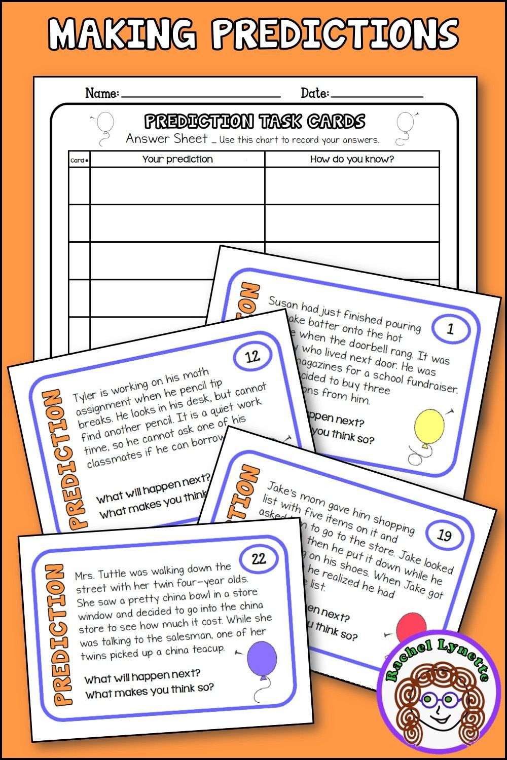- Making Predictions Task Cards Short Passages For Predicting And