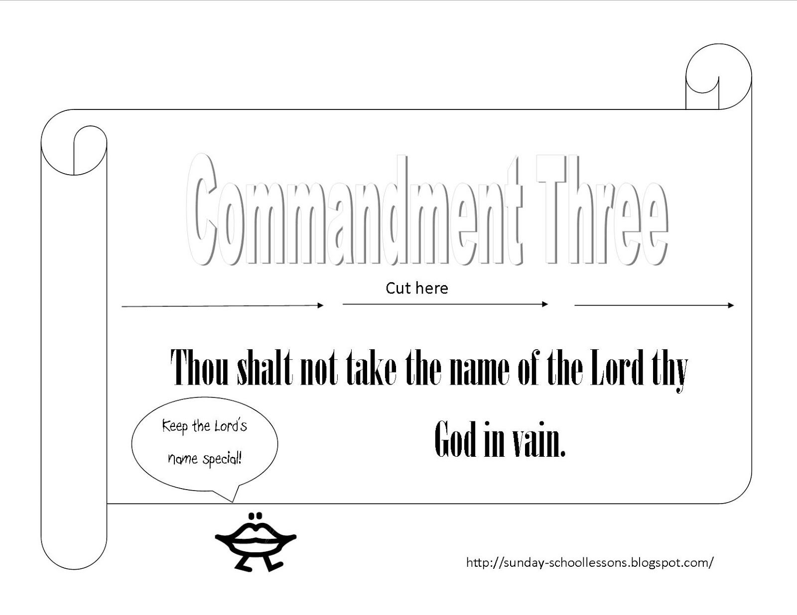 Print The 10 Commandments Coloring Pages For Your Sunday School Class