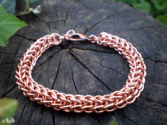 Says copper but I like rose gold, Persian Chainmaille Bracelet