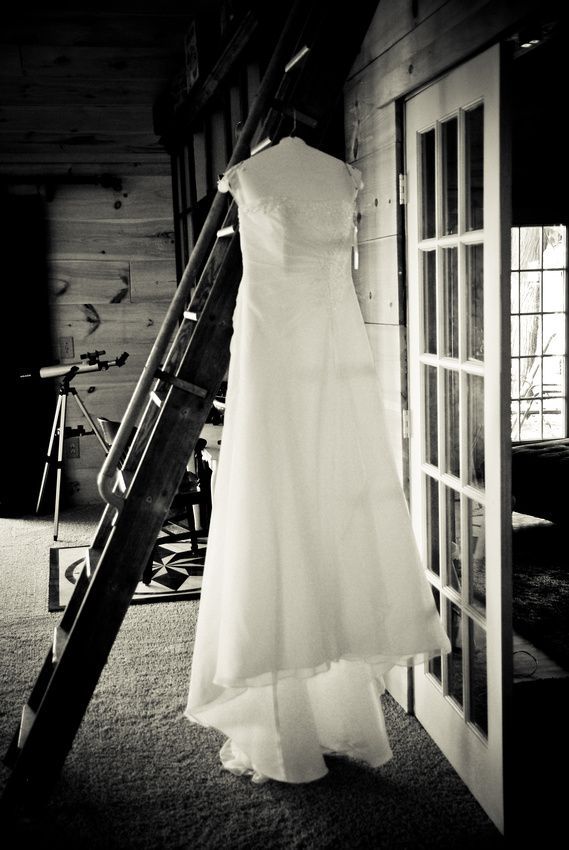Always looking for a cool place to hang the dress.  Keep that In mind when picking locations to get ready.  :)