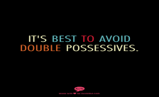 double possessives