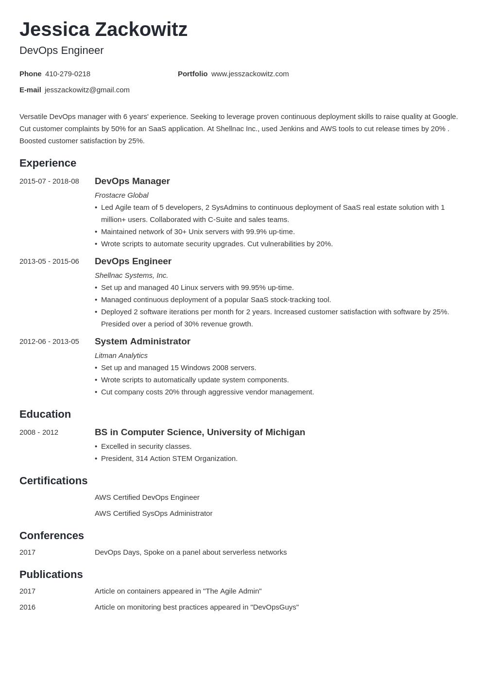 Devops Resume Example Template Minimo Resume Examples Job Resume Examples Resume Skills List