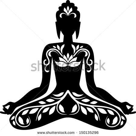 thai buddha outline  google search  lotus position