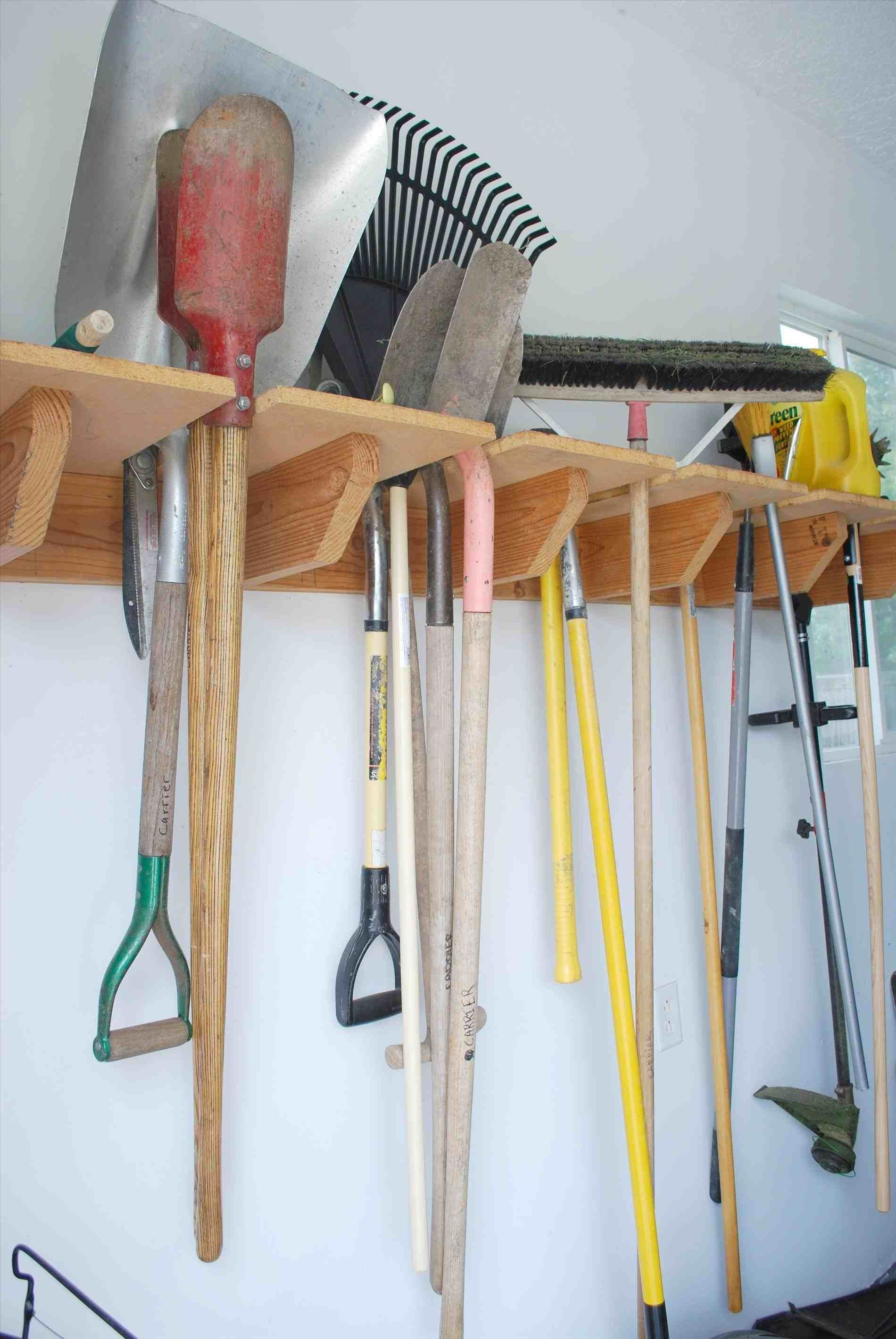 10 Garden Tool Organization Ideas Most Of The Awesome And Also Beautiful Yard Tool Storage Ideas Garden Tool Rack Garden Tool Holder
