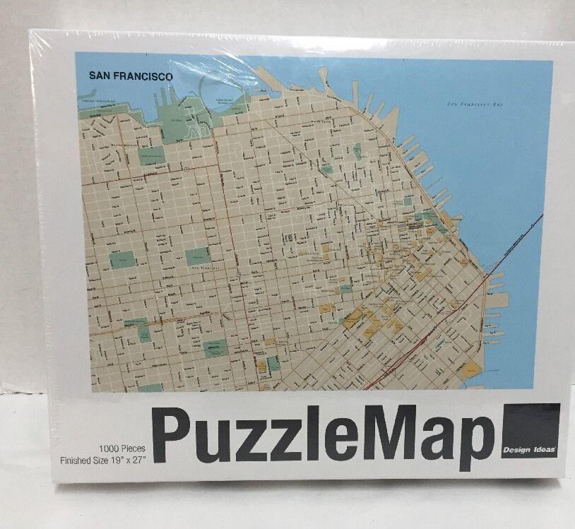 San Francisco Puzzle Map 1000 pieces Puzzlemap New 19x27 Design Ideas