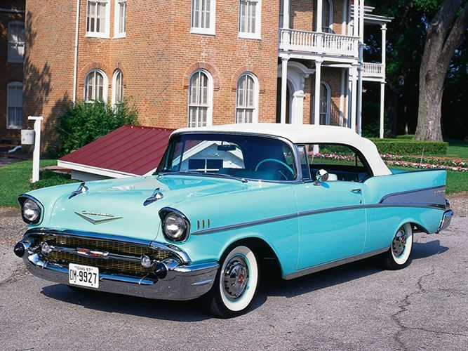 This 1957 Chevrolet Bel Air Convertible Is A Rare Drop Top Tri Five Powered By A 220 Horsepower 283ci Small 1957 Chevy Bel Air 57 Chevy Bel Air Chevy Bel Air