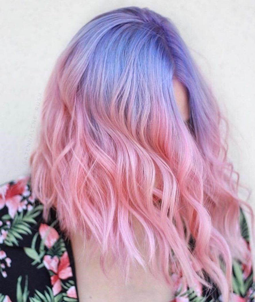 Blue Purple And Pink Pastel Ombre Fade Oh My Heartsie Girl Pink Ombre Hair Purple Ombre Hair Winter Hair Color