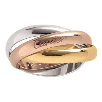 cartier yellow rose and white gold wedding bands - Cartier Wedding Ring