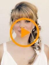 Peinados moño trenzado niñas de las flores 69 ideas peinados de boda con flequillo