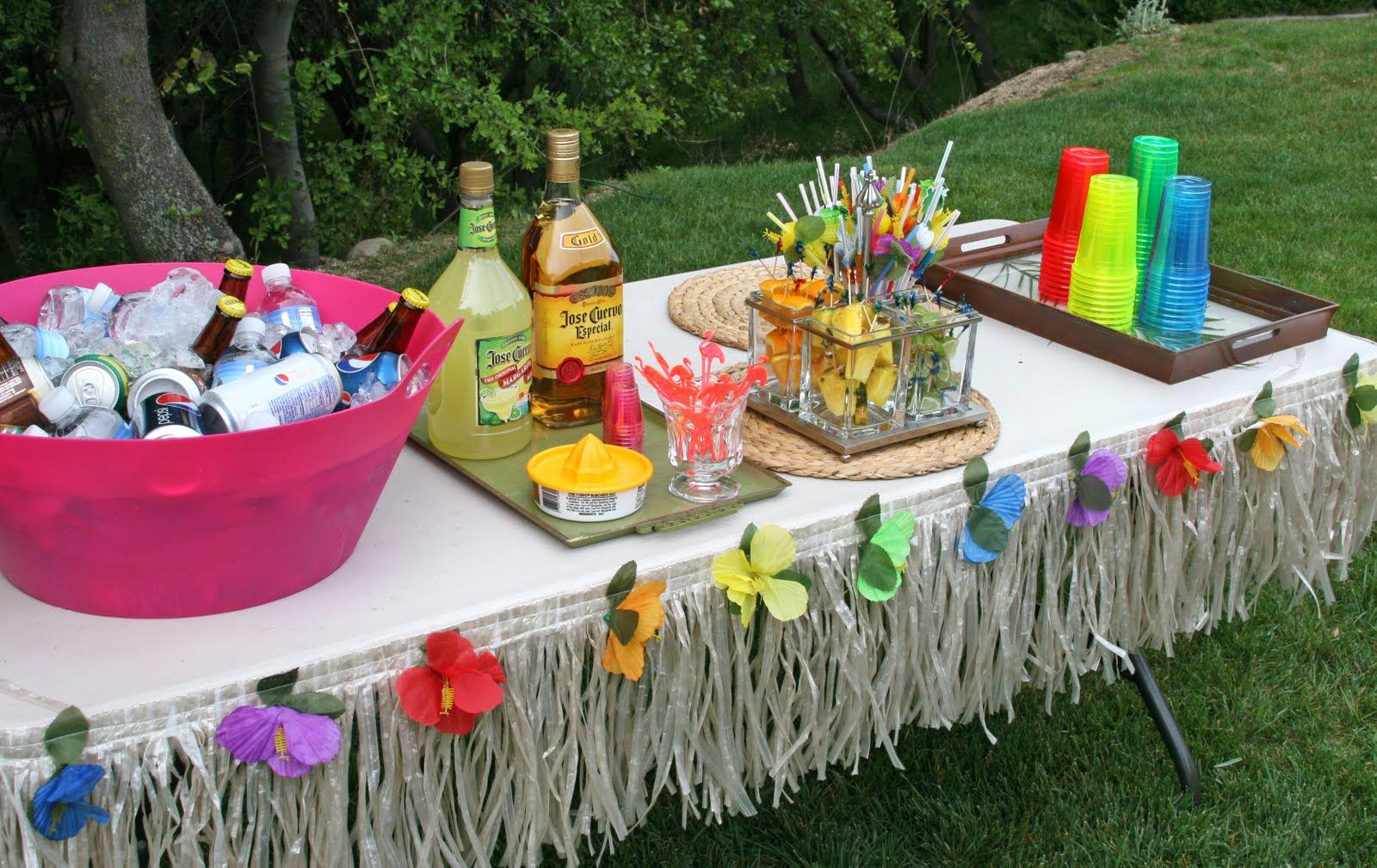 Parties 30th birthday luau party luau luau party and for Adult birthday decoration