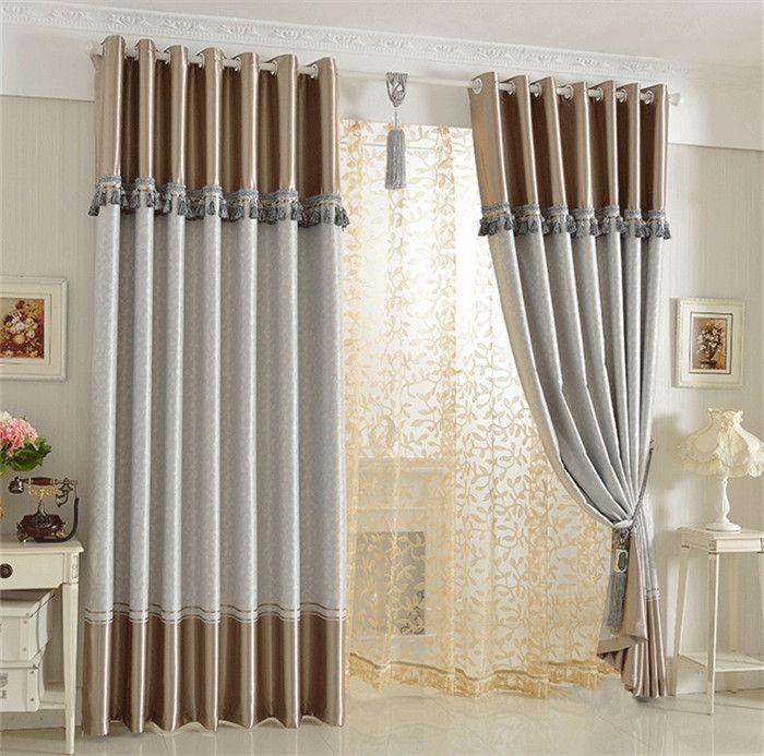Dise o cortinas dobles para salones copia meli - Disenos de cortinas para salones ...