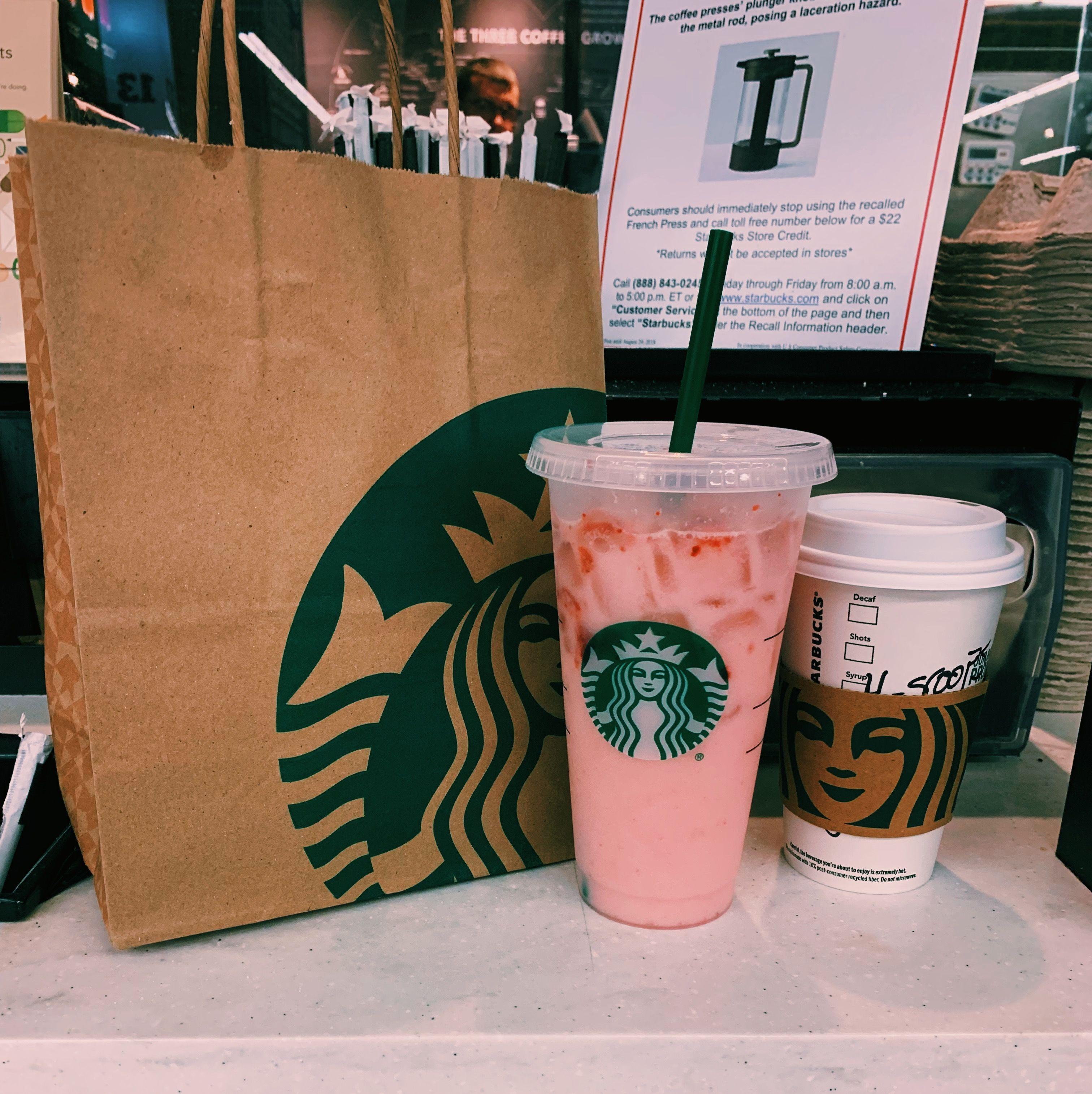 Venti Pink Drink W/ Lite Ice Grande Green Tea Matcha Latte