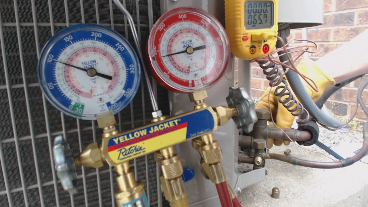 Charging Refrigerant From Your Gauge Hoses Back Into The System Yellow Jacket Vacuum Pump Wiring Diagram Before