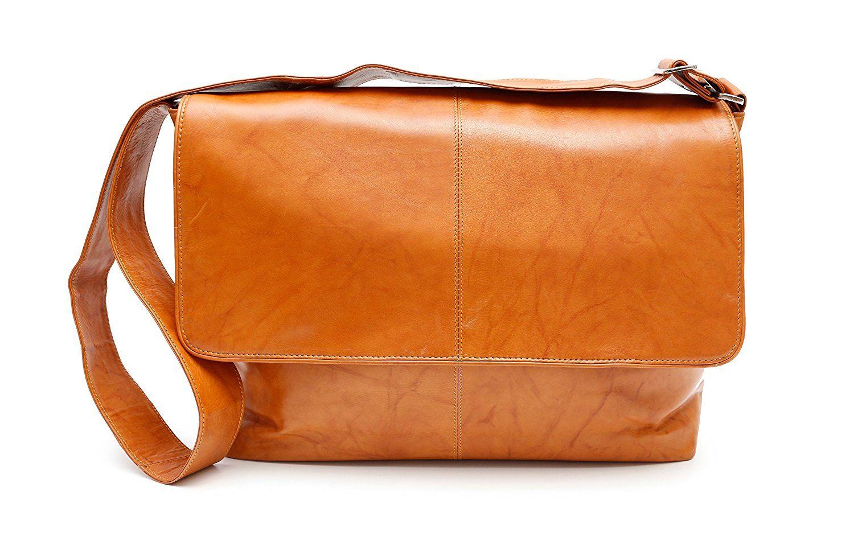6f98559bd206 Ashlin Genuine Leather Messenger Bag