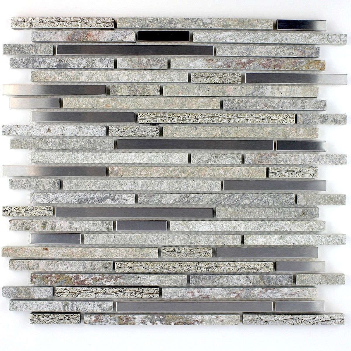 Mosaique carrelage pierre et inox 1 plaque radus 11 70 for Carrelage inox fr