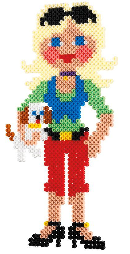 Fashion Girl Hama Beads Melted Bead Crafts Hama Beads Perler Bead Patterns