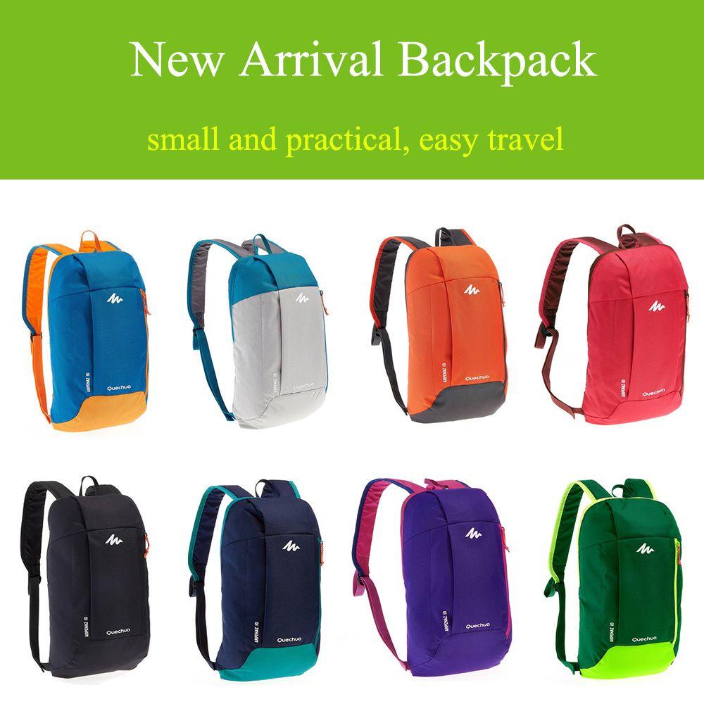 S 8.80 Decathlon backpack male   female   student mini sports leisure  travel bag canvas bag 10L QUECHUA 11cd20baa7512