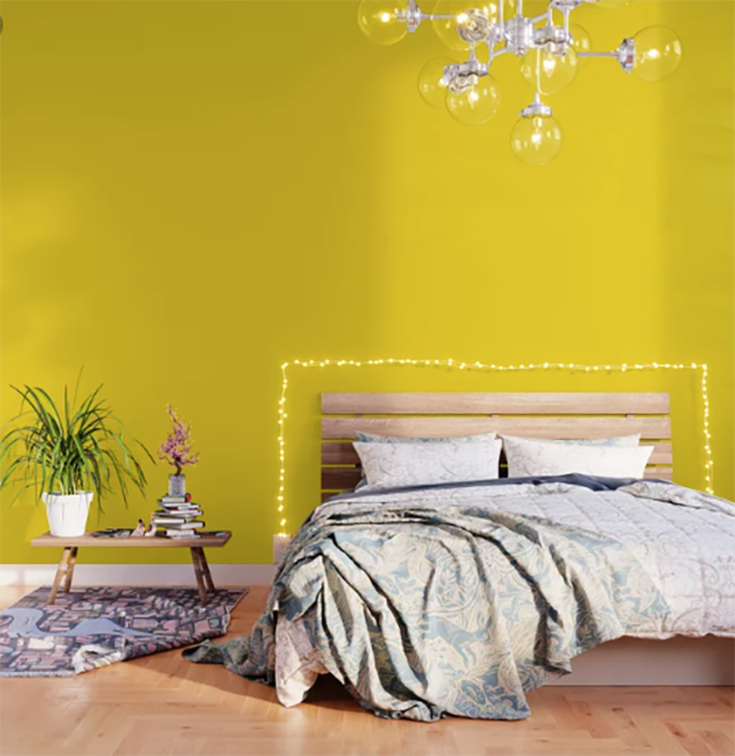 This Is The Simplest And Cheapest Way To Open Up A Small Space Yellow Wallpaper Peel And Stick Wallpaper Orange Wallpaper