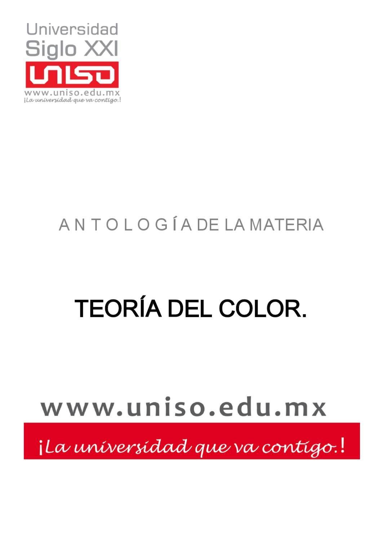 Antologia De Apoyo Para La Carrera De Diseno Grafico Teoria Del Color Libros De Arte Colores